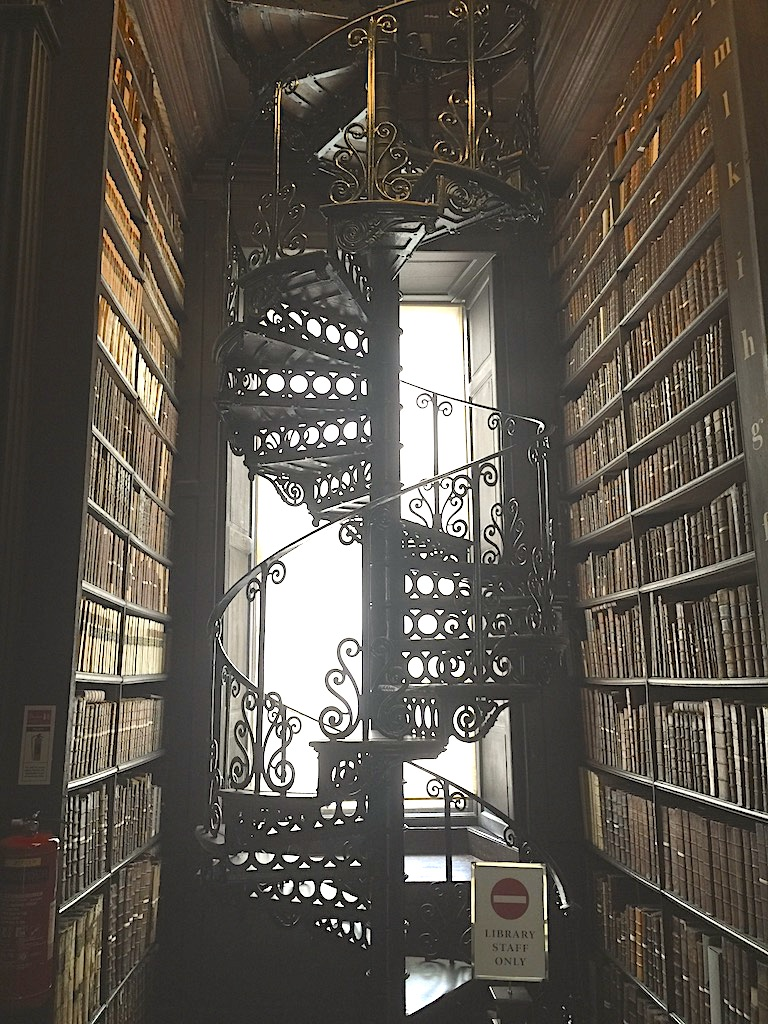 Spiral Stairs Trinity College LIbrary